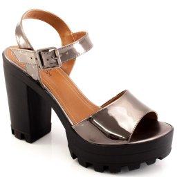 Sandalia Metalizada Tratorada Sapato Show 14015