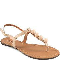 Sandália Rasteira Bolinhas Número Grande Sapato Show 12095G