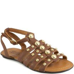 Sandália Rasteira Com Tachas Verão 2020 Sapato Show 12116