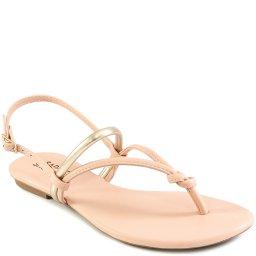 Sandália Rasteira De Tiras Verão 2021 Sapato Show 13224