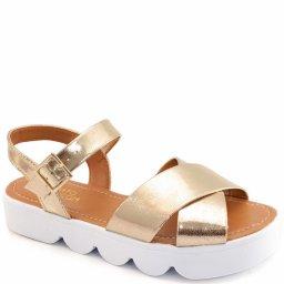 Sandalia Rasteira Metalizada Sapato Show 11425