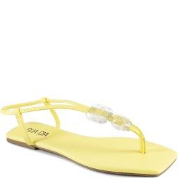 Sandália Rasteira Pedrarias Bico Quadrado Sapato Show 13645