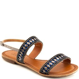 Sandália Rasteira Pedrarias Numeração Grande Sapato Show 370e