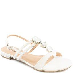 Sandália Rasteira Pedrarias Número Grande Sapato Show 1380585