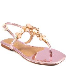 Sandália Rasteira Pedrarias Verão 2021 Sapato Show B223