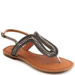 Sandália Rasteira Strass Numeração Especial Sapato Show 384e