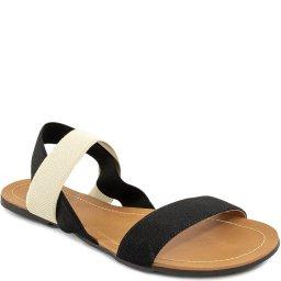 Sandália Rasteira Tiras de Elástico Sapato Show 632