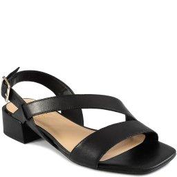 Sandália Salto Baixo Bico Quadrado Verão Sapato Show 17603