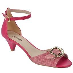 Sandália Salto Baixo Numeração Especial Skippy - 2700 Jeans Pink