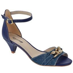 Sandália Salto Baixo Numeração Especial Skippy - 2702 Jeans Azul
