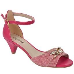 Sandália Salto Baixo Numeração Especial Skippy - 2702 Jeans Pink