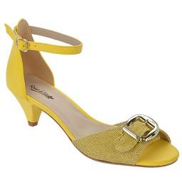 Sandália Salto Baixo Numeração Especial Skippy - 2700 Amarelo