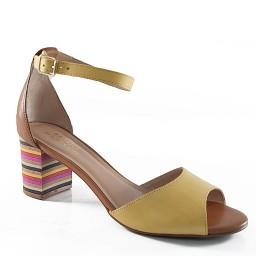 Sandália Salto Colorido Sapato Show - 37629162