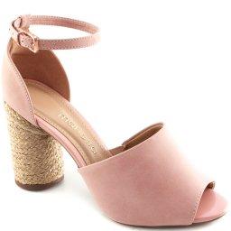 Sandália Salto Grosso Verão 2019 Sapato Show 1811618
