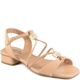 Sandália Tiras Finas Salto Baixo Spikes Sapato Show 13166