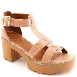 Sandalia Tratorada Envernizada Sapato Show 12814
