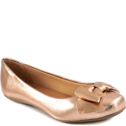 Sapatilha Metalizada Bico Quadrado Laço Sapato Show 13068
