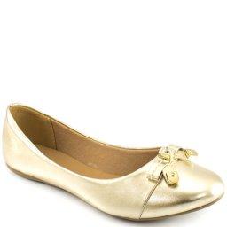 Sapatilha Metalizada Bico Redondo Sapato Show 11770