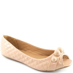 Sapatilha Verniz Aberta Na Frente Sapato Show 11827