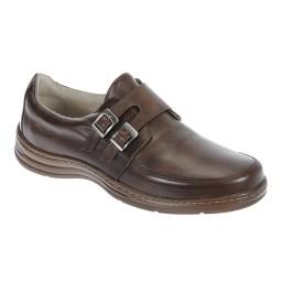 Sapato Masculino com Fivela Italeoni - 809 Pinhão