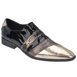 Imagem do produto - Sapato Masculino Heinze - 17-15 Preto Verniz