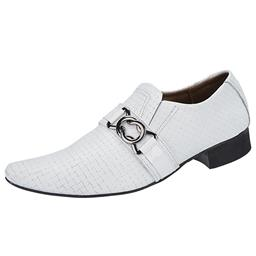 Sapato Masculino Trançado Branco Ebenezer - 837