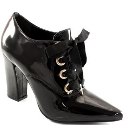 Sapato Oxford Com Salto Verniz Via Uno 211009