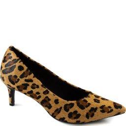 Scarpin Conforto Kitten Heel Animal Print Sapato Show 31501