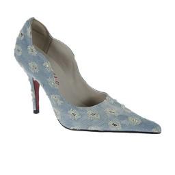 Scarpin Feminino Bonnie&Clyde - 036 Jeans Claro