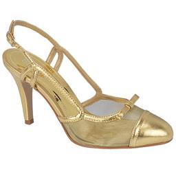 Scarpin Feminino Salto Alto Belmon - 11012 - Ouro - 33 a 43