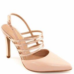 Scarpin Tiras Metalizadas Sapato Show 04070