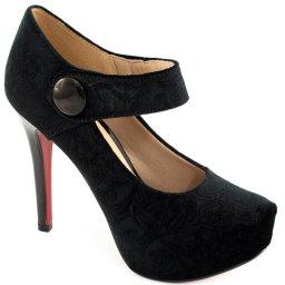 Scarpin Veludo Numeração Grande Sapato Show 740071e