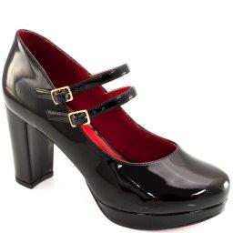 Scarpin Verniz Bico Redondo Sapato Show 1290062