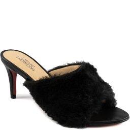 Tamanco Salto Fino Fluffy Verão 2021 Sapato Show 1680978