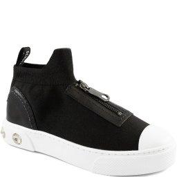 Tênis Confort High Knit Zíper Com Pedrarias Schutz S210230001