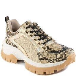 Tênis Dad Sneaker Flatform Metallic Inverno Tanara T4201