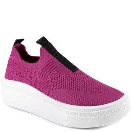 Tênis Feminino Slip On Knit Flatform Verão Sapato Show 46703