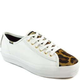 Tênis Flatform Keds Triple Kick Animal Print