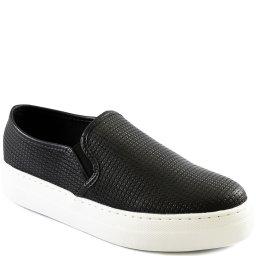 Tênis Slip On Feminino Couro Texturizado Sapato Show 32775