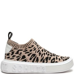 Tênis Slip On It Malha Knit Animal Print Schutz S209200027