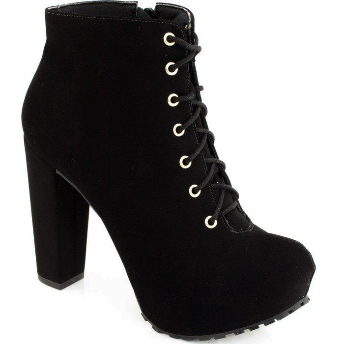 de1e09e39c Ankle Boot Lita Tratorada Sapato Show 1120056 - Preto