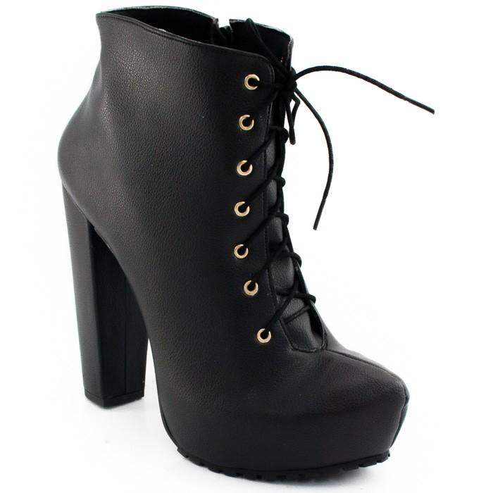 f36d48574e Ankle Boot Tratorada Sapato Show 11202e - Preto