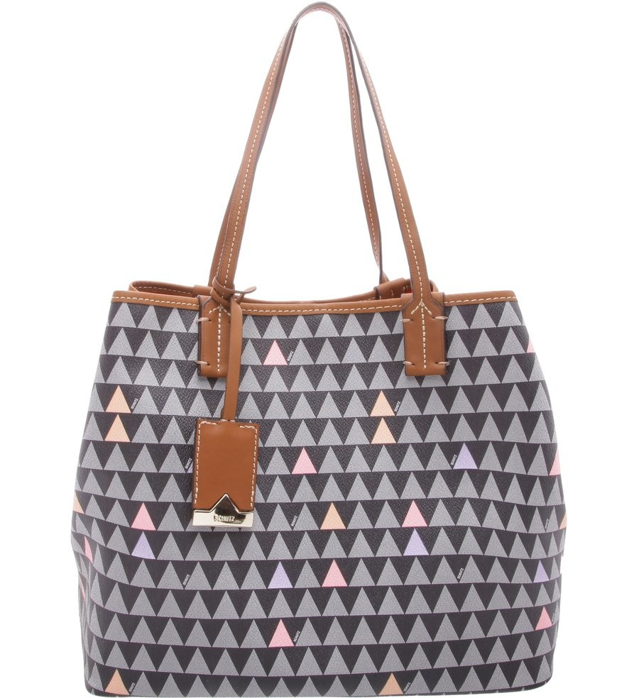 Bolsa Schutz Triangle Brownie S5001801210001 - Multicolor  7472c698d23
