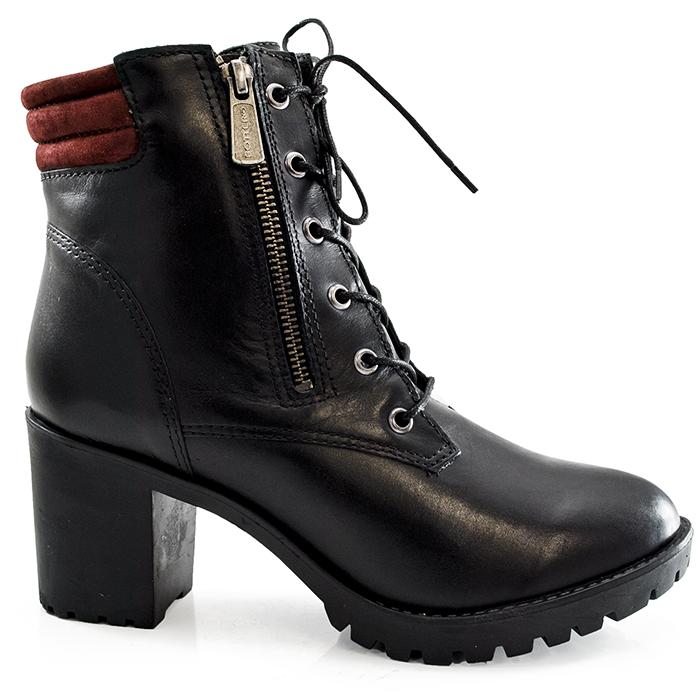 125b4d4cf Coturno Feminino Salto Tratorado Bottero - 250101 - Preto | Sapato Show