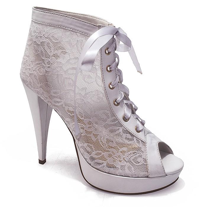 ec6c0b8d51 Ankle Boot para Noivas em Renda Belmon - 548 - Branco - 33 ao 43