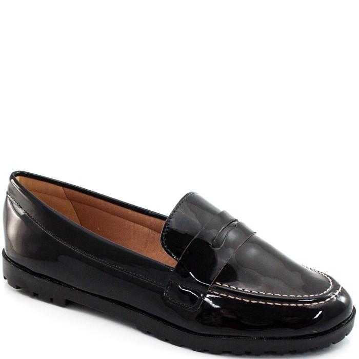e628dcc68 Mocassim Metalizado e Envernizado Sapato Show 11183 - Preto | Sapato ...