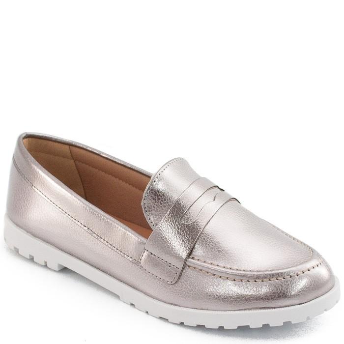 f0165f88c Mocassim Metalizado e Envernizado Sapato Show 11183 - Prata | Sapato ...