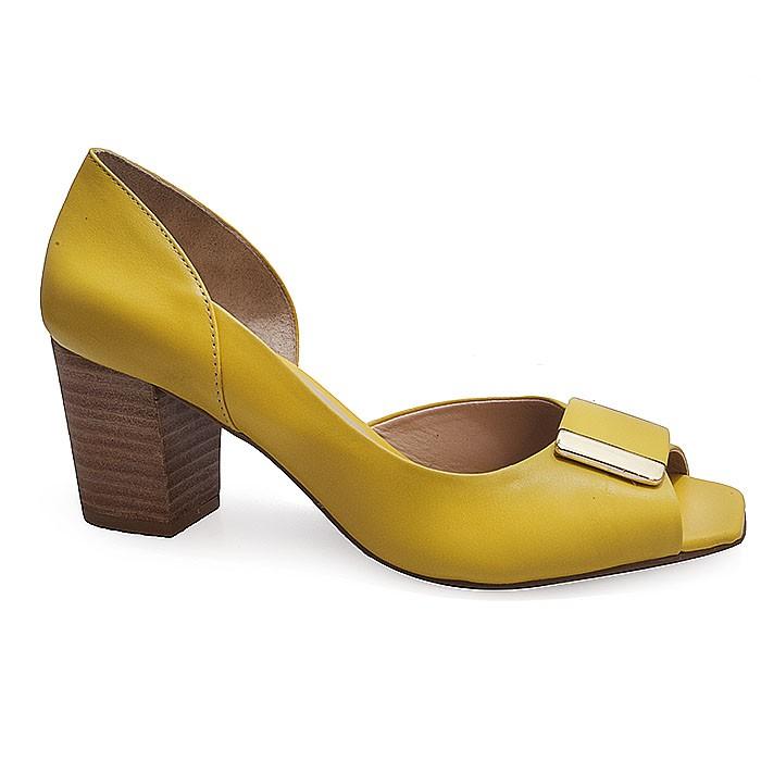 3587e7ab21 Peep Toe Feminino Hiz 4281 - Amarelo