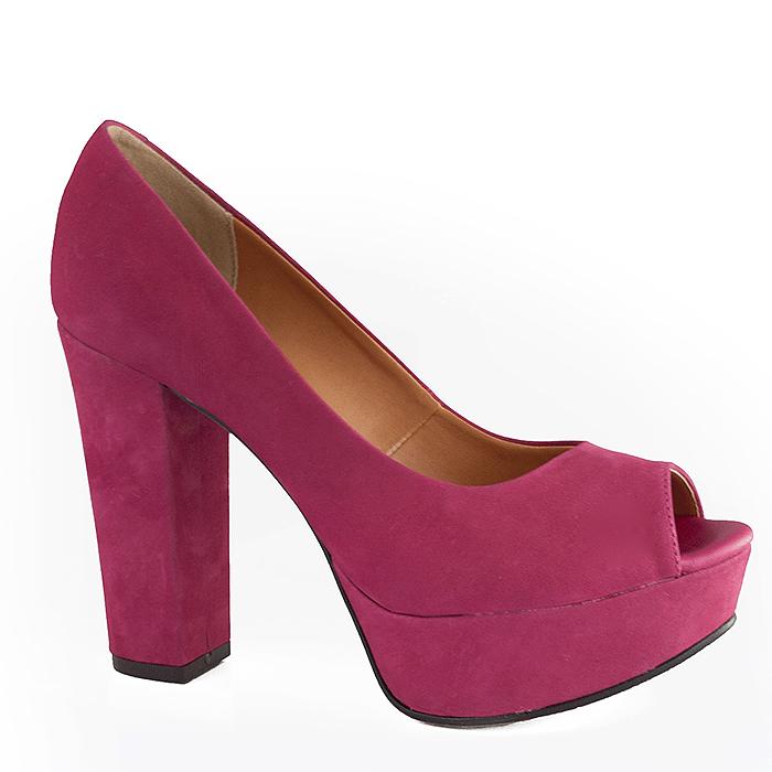 84873169da Peep Toe de Festa Salto Grosso Lia Line - 7317 - Pink