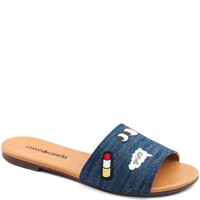 0b556e7645 Rasteira Cravo e Canela Com Patches 149205 - Jeans